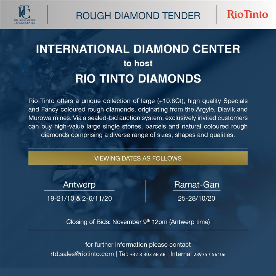 International Diamond Center to host Rio Tinto Diamonds